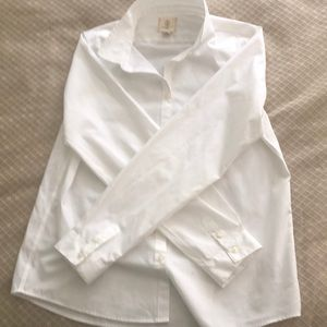 Lands End button down blouse 13-14yrs old S16